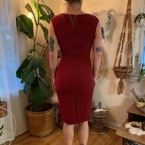 Zara Dresses - Form-fitting red cocktail dress from Zara